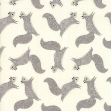 Moda Fabric Bramble Novelty Squirrels Natural - Per 1/4 Metre