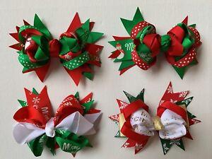 "Christmas Hair Bow - 11cm - ""Angel"" - Girls - Toddler"