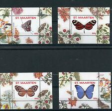St Maarten 2016 MNH Butterflies 4 x 1v S/S I (nos 1-4) Insects Butterfly