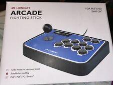 Lioncast Arcade Fighting Stick Controller Joystick with PC, PS2, PS3, [BLUE]