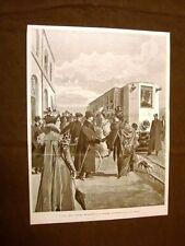 Milano nel 1899 Nuova ferrovia di treni elettrici Milano - Monza Tram - Tramway