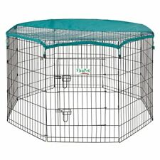 90cm x 8 Panel, Dog Puppy Rabbit Cage Run PlayPen, Guinea Duck Chicken Enclosure
