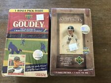 Lot of 2 2007 Upper Deck Baseball Sealed Blaster Boxes 1 Goudey & 1 Artifacts