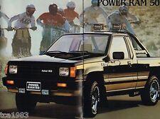 Big 1987 Dodge RAM 50 PICKUP TRUCK Brochure / Catalog; SPORT,CUSTOM,POWER,