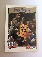 1991 NBA Hoops Basketball Card  - #474 Los Angeles Lakers, James Worthy