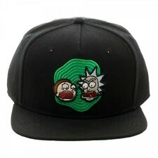 OFFICIAL RICK AND MORTY BLACK SNAPBACK CAP WITH PRINTER VISOR (BRAND NEW)