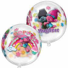 "16"" Trolls película amapola Niños Globo de Fiesta de Cumpleaños Foil Balloon Orb"