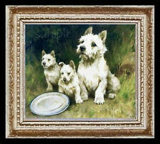 West Highland Terrier Dogs Miniature Dollhoues Picture