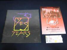 Yes 1998 Japan Tour Book Concert Program with Ticket Jon Anderson Steve Howe