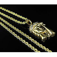 """Mens Ladies 10 KT Yellow Gold Rope Chain 3.5 mm 18""""- 24"""" Inches"""