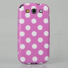 Samsung Galaxy S3 Polka Dot Case / Cover - White & Purple