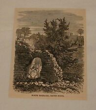 1887 magazine engraving ~ North Barracks CROWN POINT, VT
