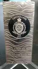 More details for star wars mandalorian 1 oz .999 fine silver beskar bar niue $2 ltd ed