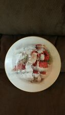 Pottery Barn Nostalgic Santa Serving Bowl