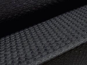 Jacquard Jersey Knit Stretch Dress Fabric, Per Metre - Black
