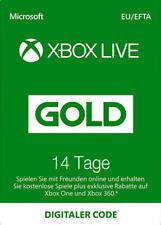 Xbox Live Gold 14 Tage Code Mitgliedschaft Karte Xbox One & 360