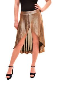 One Teaspoon Womens Elegant Skirt Gold Glow Size S