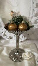 Christbaumkugel Braun Gold Weihnachtskugel Christbaumschmuck Shabby Vintage 5cm