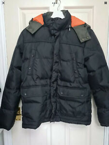 Replay Mens Puffer Coat Medium