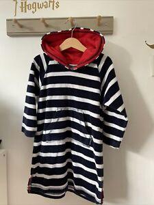 jojo maman bebe boys Stripe Hooded Towel/ Beach Coverup Age 4-5 Years