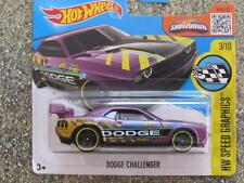 Hot Wheels 2016 #178/250 Dodge Challenger Drift Car púrpura caso e