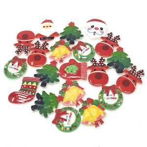 20 Mix Christmas Cute Shabby Chic Resin Xmas Flatbacks Cardmaking Embellishments
