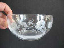 "4- 24% Lead Crystal Hummingbird 5"" Dessert Bowls by Avon Glass"