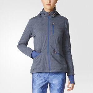 Adidas Womens Climaproof Softshell Golf Sports Jacket with Hood - Navy Blue