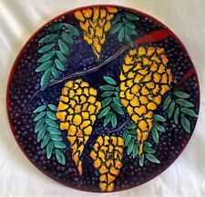 POOLE POTTERY STUDIO YELLOW WISTERIA CHARGER DISH NICKY MASSARELLA ABSTRACT ART