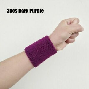 Cotton Wrist Band Sport Sweatband Tennis Hand Bands Gym Sweat Wristband