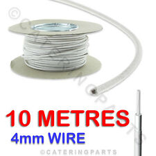 10 metres of 4.0mm HEAT RESISTANT HIGH TEMP SILICONE GLASS FIBRE CABLE WIRE 4mm