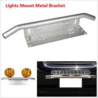 UnivFront Bumper License Plate Mount Bracket Led Work Light Holder OffRoad SUV d