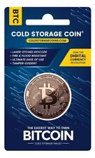 Bitcoin BTC Cold Storage Coin Crypto 1oz Fine Copper Retail Packaging