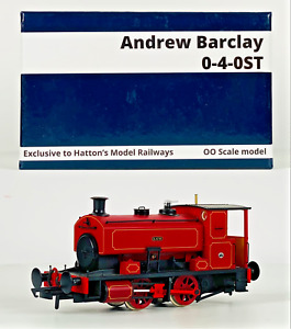 HATTONS 00 GAUGE - H4-AB16-003 - ANDREW BARCLAY 0-4-0 'KATIE' LINED MAROON DCC