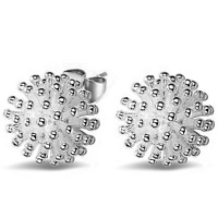 Elegant Women 925 Sterling Silver Plated Flower Ear Stud Earring Fashion Jewelry