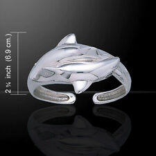 Shark .925 Sterling Silver Bangle Bracelet by Peter Stone