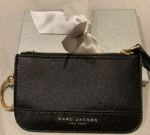 Marc Jacobs Black Leather Key Pouch Wallet