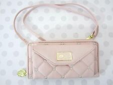 Betsy Johnson Pink Quilted Hearts Crossbody Purse New