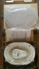 "Crossfire NOS 6"" x 9"" 3-Way Platinum Oval Marine Speakers Stainless White Pair"