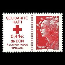France 2010 - Red Cross - Haiti Solidarity SELF-ADHESIVE - Sc B719 MNH