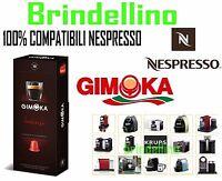 80 Cialde Capsule caffè Gimoka INTENSO Espresso compatibili NESPRESSO INISSIA