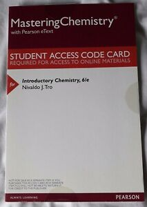 MasteringChemistry with Pearson eText - Introductory Chemistry 6/e (New Sealed)