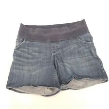 Liz Lange Maternity Denim Jean Shorts Size Small ~ Comfort With Band And Roll Up