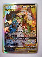 222/236 pokemon carte holo Anglaise replica FAN CARD Reshiram & Zekrom