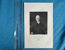 Original 1846 antique GRAVURE PRINT John Scott Earl of Eldon Robinson Fisher