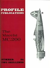 MACCHI MC.200: PROFILE #64/ 8 NEW PAGES+A3 FOLDOUT CUTAWAY/ NEW-PRINT FACSIMILE