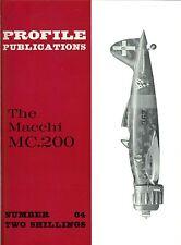 MACCHI MC.200: PROFILE #64/ 8 NEW PAGES+A3 FOLDOUT CUTAWAY/ NEW-PRINT FACSIMILE