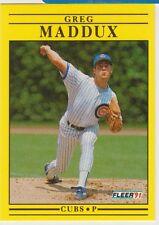 1991 Fleer #426 Greg Maddux Chicago Cubs Baseball Card