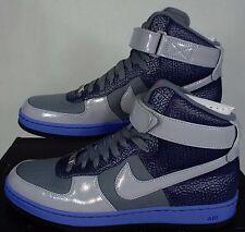 New Mens 10 NIKE AF1 Downtown HI Grey Navy Basketball Shoes $145 574887-001