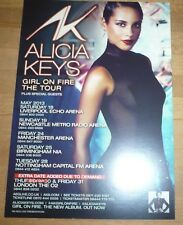 ALICIA KEYS (UK Concert Tour Flyer) GIRL ON FIRE Tour 2013
